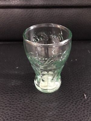 Green Coca-Cola 2 1/2 Oz. Glass Toothpick Holder Shot Glass Ect.