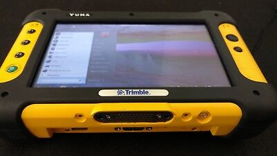 Trimble Yuma, data, GPS, docking station, chest pack, 4 batteries, 2 chargers