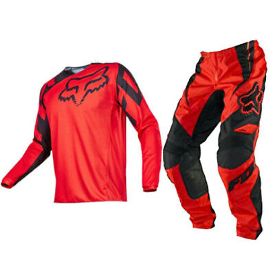 Fox Racing Adult 180 Race Offroad MX Gear Set Red White Black Large / 32