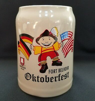 Fort Belvoir Virginia Oktoberfest German Beer Mug Stein