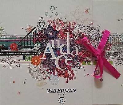 Waterman Audace Ballpoint Pen / Rollerball  City Of Style NIB  Made In France