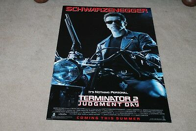 TERMINATOR 2 Vintage Original DS 27x40 Movie Poster - MINT and Rolled