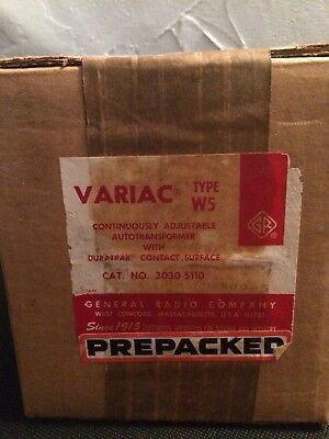 General Radio Co. VARIAC Type W5 continuously adjustable autotransformer. NOS