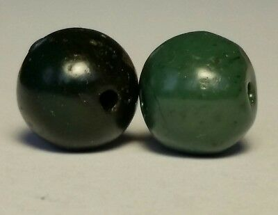 Ancient Beads, 2 Ancient Rare Serpentine Beads.