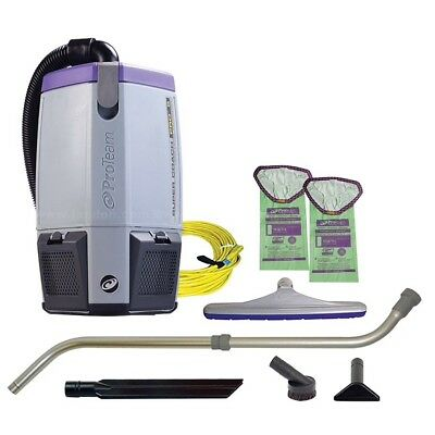 Proteam Super coach Pro 6 6qt Backpack Vacuum w/xover Wand Tool Kit