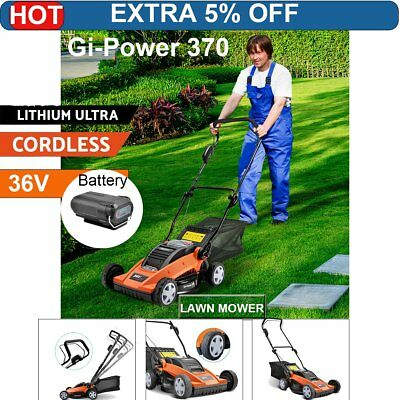 Gi-Power Lawn Mower Portable Cordless Lawnmower Lithium Battery Powered Electric