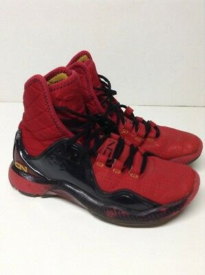 Under Armour Highlight High Cam C1N Micro G MPZ RED Sneakers Sz 4.5 Youth