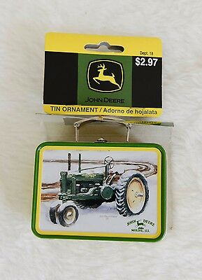 John Deere Tin Lunchbox Ornament 2007 Judy Richardson