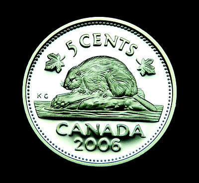 2006 Canadian 5¢ silver proof coin that is fully BU