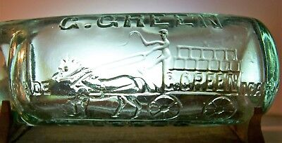 Pictorial codd top bobble with a horse drawn wagon (G.GREEN & Co.)    !!(LOOK)!!