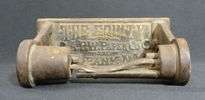 Antique Cast Iron Toilet Paper Roll Holder The Equity APW Paper Co Albany NY