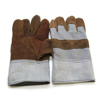 Welding Finger Cow Leather Gloves Heat Shield Cover Hand Protective Safety Wear
