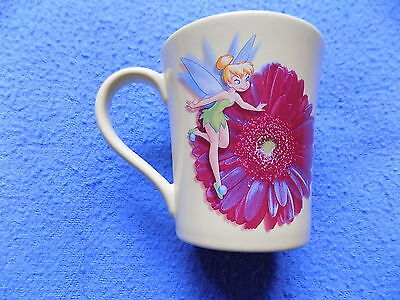 TINKER BELL Mug / Cup Disney Store Exclusive Yellow w/ Flower