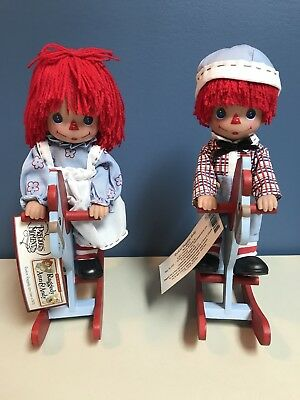 """Rocking Raggedy Ann And Andy Precious Moment Dolls 2011 11"""""""
