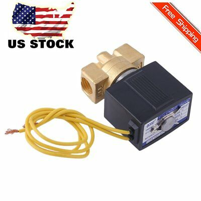 1/4 inch 110V-120V AC Brass Electric Solenoid Valve Gas Water Air B20N/V US SHIP