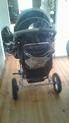 valco baby runabout tri-mode pram with bassinet and toddler seat pre loved