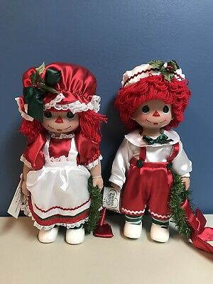 """Raggedy Ann And Andy Precious Moments Christmas Traditions Doll 2010 12"""""""