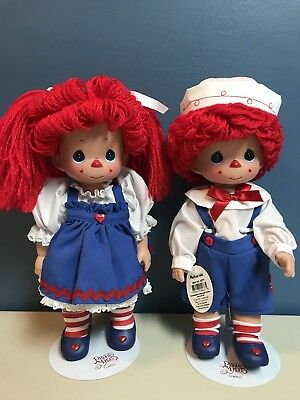 """Raggedy Ann And Andy Precious Moments Mop Top Mary And Will 12"""" 2003"""