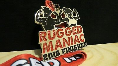 Rugged Maniac 2016 Finisher Medal Obstacle Mud Run Race