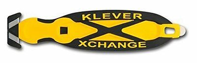 Klever XChange, Safety Knife Cutter, Replaceable Head, Yellow, New