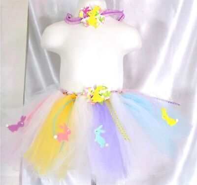 Easter Tutu / Headband -Toddler,girl,child, - Fits Size 9 Mos. - 2T -Handmade