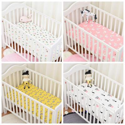 Baby Bed Fitted Sheet With Elastic band Crib Mattress Protector 130 x 70