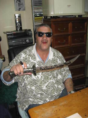 CHINESE  Fantasy War Battle Sword Signed by Mark Chopper Read Authentic Original