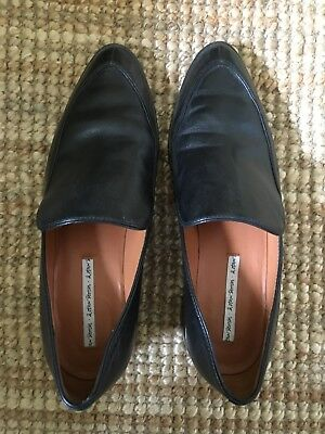 And Other Stories Black Leather Loafers Size 41