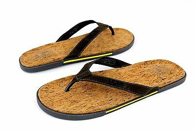 6f0b972eb3772 UGG Bennison II Leather Cork Men s Flip Flops Thongs Metal Gray Size 10 US