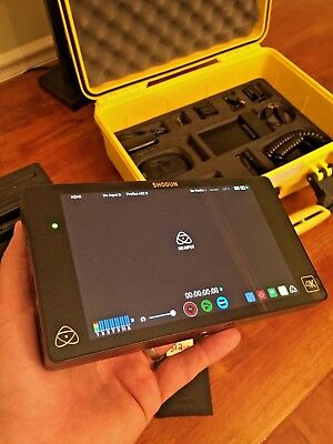Atomos Shogun 4K HDMI/12G-SDI Recorder W/ Case and 2X 500GB SSD and Sunhood