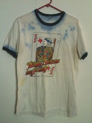 Rare WILLIE NELSON 1979 Original Vintage 70s T-Shirt L/M Outlaw Country As Is