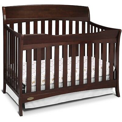 Graco Lennon 4-in-1 Convertible Modern Baby Crib Toddler Bed Day Bed, Expresso