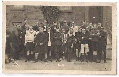 Group of Footballers? RP c1910 by J P Couper, Glasgow