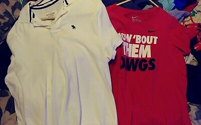Abercrombie And Fitch Muscle Xxl Classic White Polo Blue Moose Nike Xxl Dawgs T