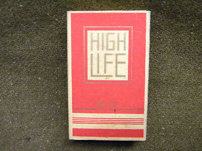 Paquet 10 Cigarette High Life Complet Vintage Pack Old 50' Collector