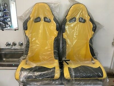 Yellow and Black Bucket Seat - PICK UP ONLY