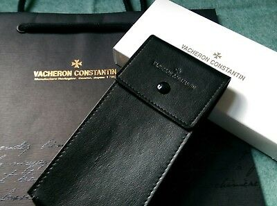 VACHERON CONSTANTIN black leather watch travel/storage pouch. GIFT BOXED AND BAG