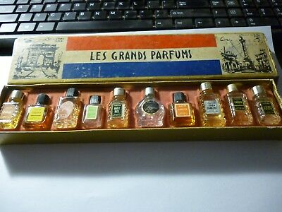 Vintage 1960's French Miniature perfume bottle set