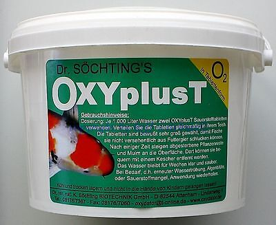 Dr.Söchting`s oxyplust 4kg sauerstofftabletten for Clear Pond Water 17,25 €/