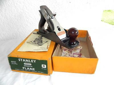 Great Vintage Boxed STANLEY BAILEY Hand Smooth PLANE No: 4  Hand Tool
