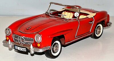 MB 190 SL 1955 oldtimer blechauto blechmodell tin model vintage car 29 cm 37330