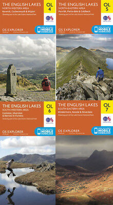OS Explorer Complete Lake District Set OL4, OL5, OL6, OL7
