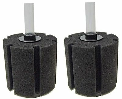 NEW 2 x Aquarium Fish Tank Bio Foam Sponge Filter Discus Breeding Fry Filtration