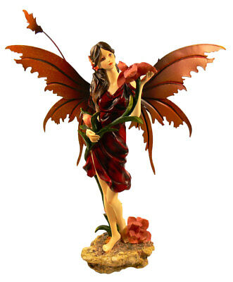Elfe Fee Dream Fairy Fairies Elfen Feen Figur Figuren stehend bordeaux