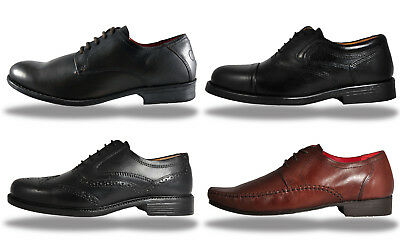 Mens Red Tape REAL LEATHER Smart Brogue  Dress Shoes From Only £12.99