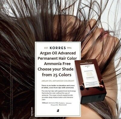 Korres Argan Oil Advanced Permanent Hair Colorant With Pigment-Lock Technology