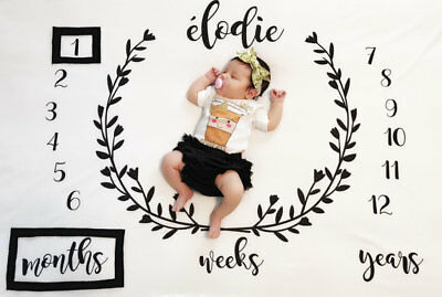 Baby Milestone Blanket Month to Month Photography Props