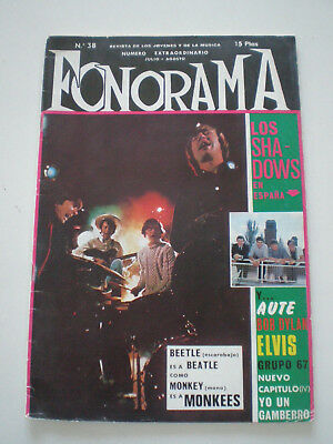 FONORAMA Nº 38 1967 MONKEES Jimi Hendrix ELVIS Dylan SPAIN POP BEAT MAG Farfisa