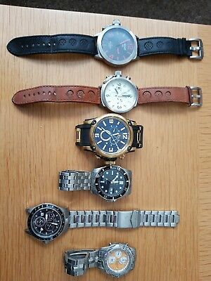 Nice Job Lot Of Mens Chronograph Watches For Spares Or Repair