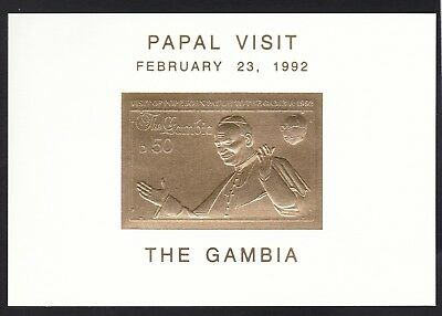 Gambia 1992 Pope Visit - previously hinged  (N33)